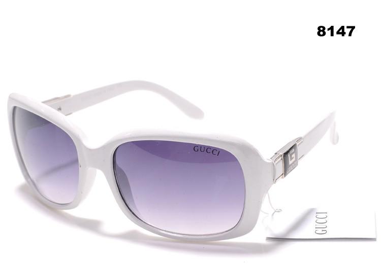 Lunettes de soleil blanches Fashion