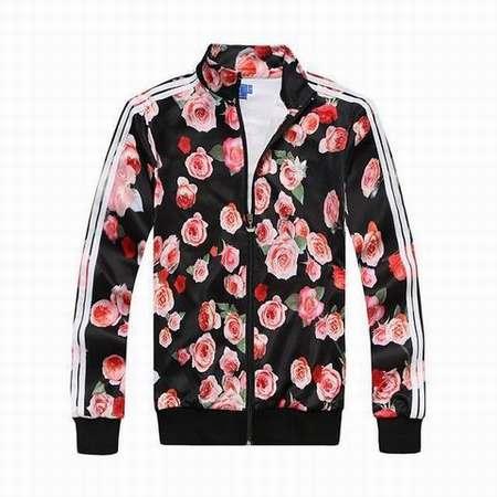 veste adidas a fleur femme